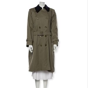 VTG Burberry Trench Coat Wool Lining size M-L